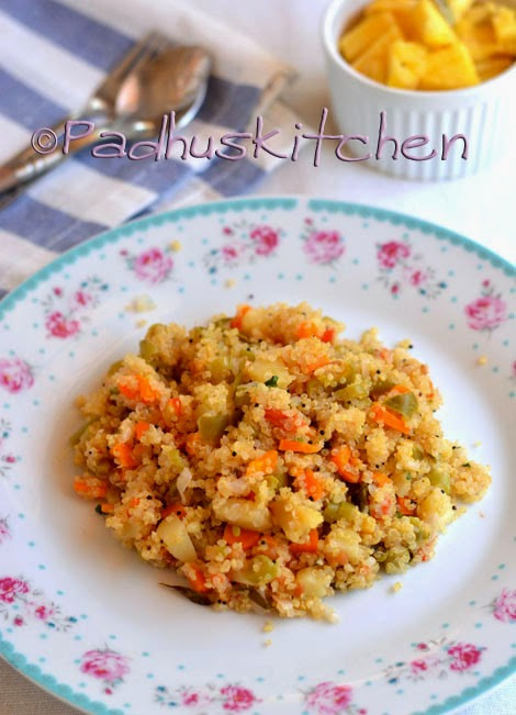 Quinoa Indian Recipes  Quinoa Upma Recipe How to make Quinoa Ve able Upma