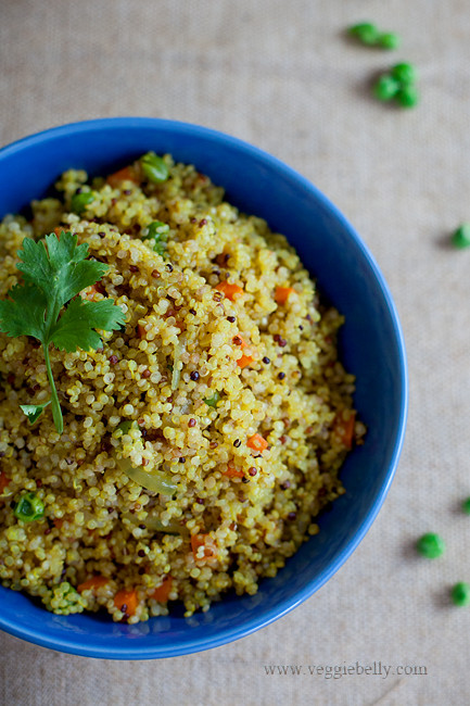Quinoa Indian Recipes  Quinoa Upma Recipe Veggie Belly