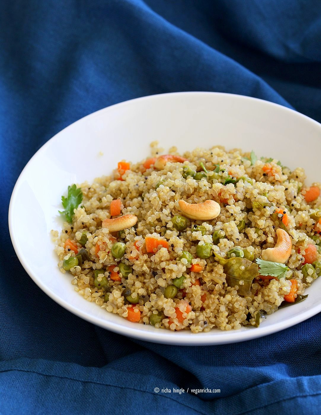 Quinoa Indian Recipes  Quinoa Upma Recipe Quinoa with Spices Carrots and Peas