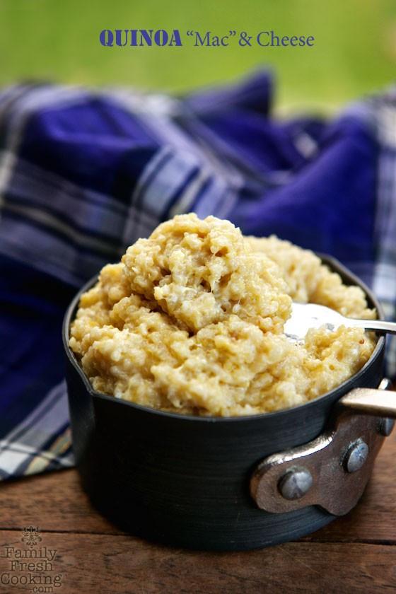 """Quinoa Mac And Cheese  Quinoa """"Mac"""" & Cheese"""