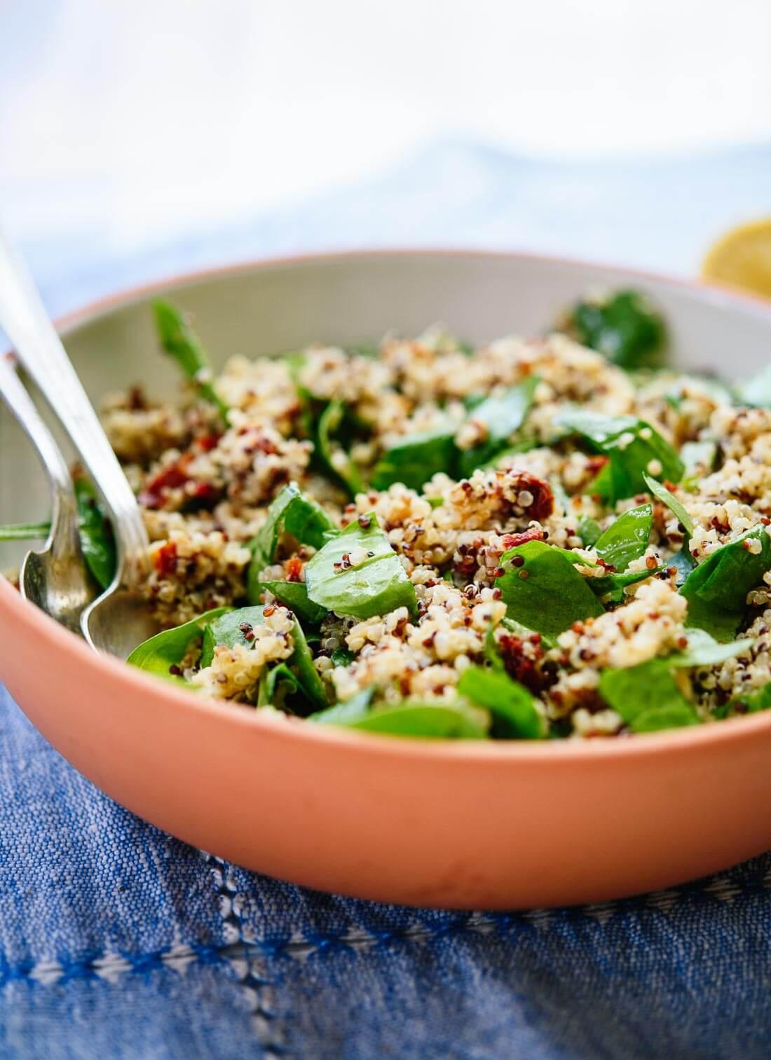 Quinoa Recipes Salad  Sun Dried Tomato Spinach and Quinoa Salad Cookie and Kate