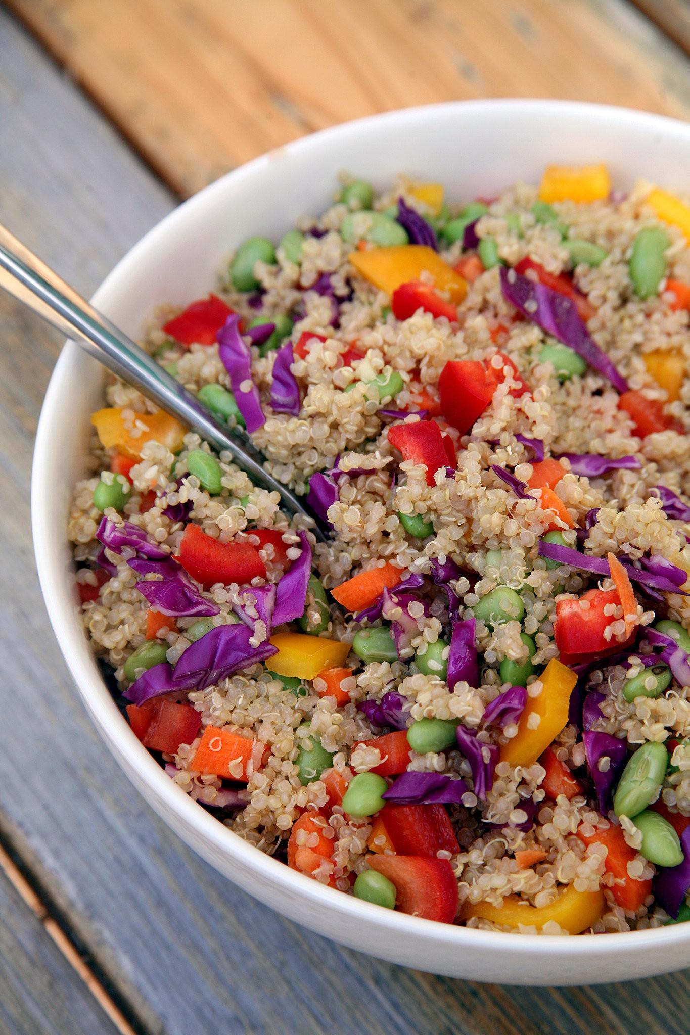 Quinoa Recipes Salad  Sesame Ginger Quinoa Salad Vegan
