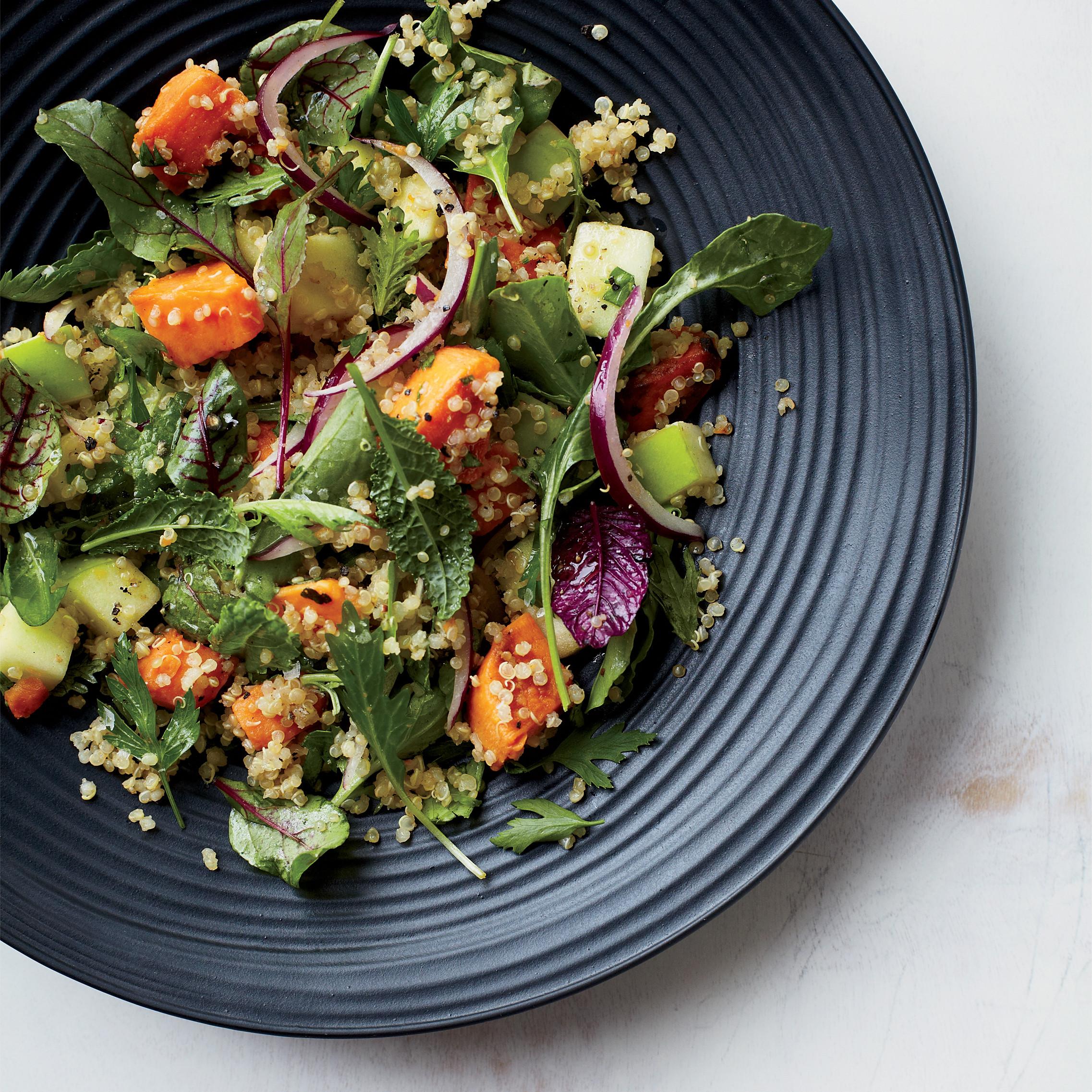 Quinoa Recipes Salad  Quinoa Salad with Sweet Potatoes and Apples Recipe Grace