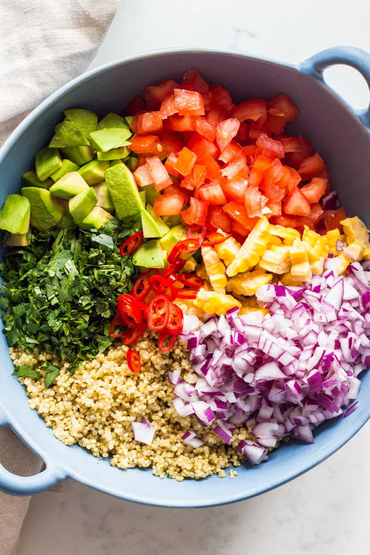 Quinoa Recipes Salad  Mexican Quinoa Salad Green Healthy Cooking