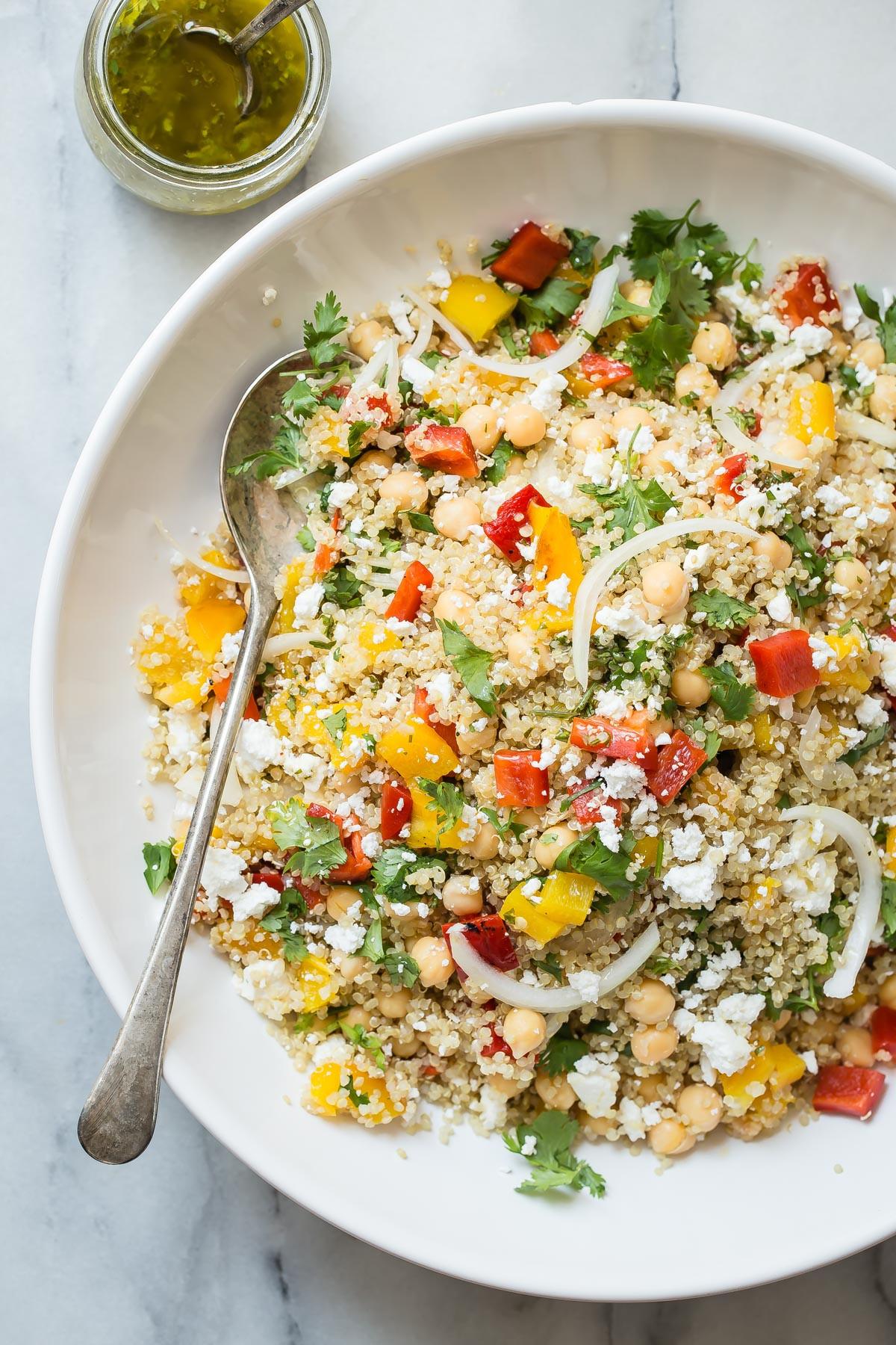 Quinoa Recipes Salad  Healthy Quinoa Salad with Feta Cheese