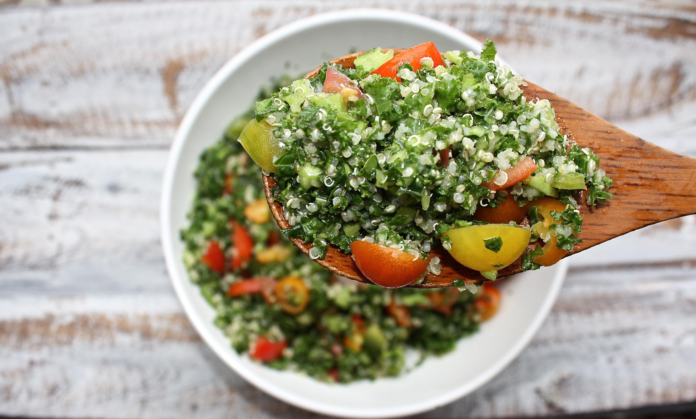 Quinoa Salad Dressing  Kale Tomato & Quinoa Salad with Lemon Dressing For A