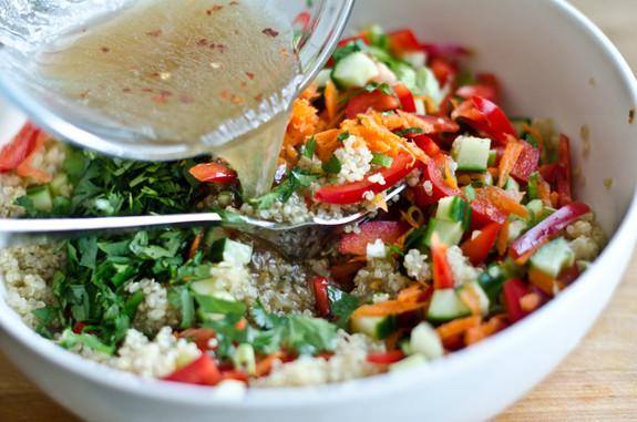 Quinoa Salad Dressing  Thai Quinoa Salad with Fresh Herbs and Lime Vinaigrette