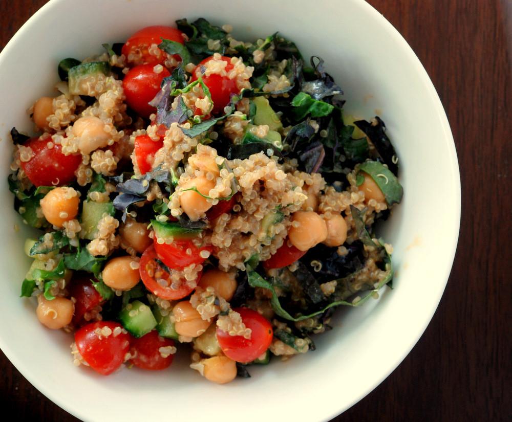 Quinoa Salad Dressing  Quinoa and Chickpea Salad with a Balsamic Tahini Dressing
