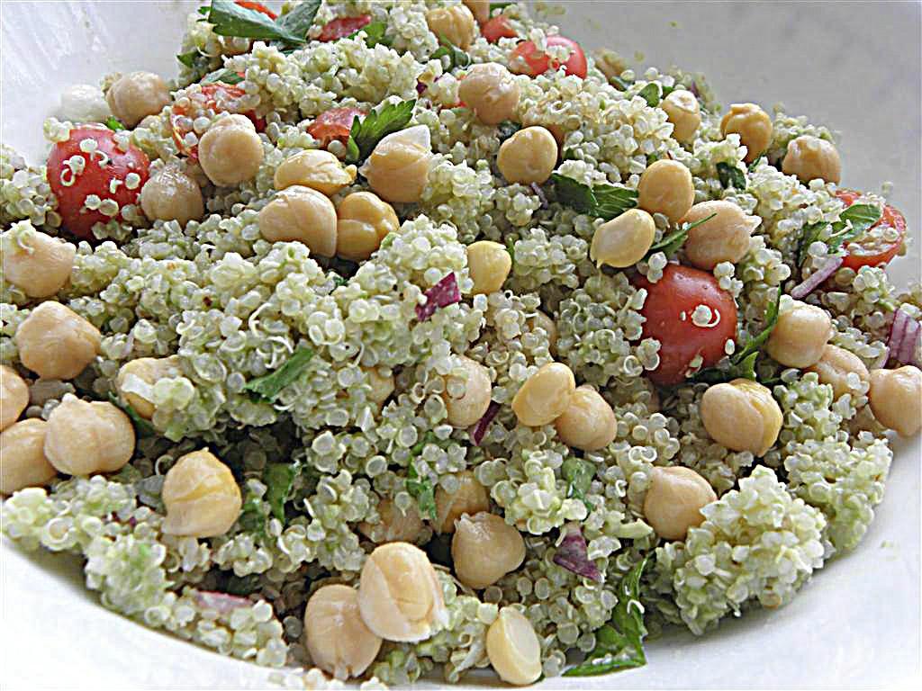 Quinoa Salad Dressing  Quinoa Chickpea Salad with Avocado Dressing
