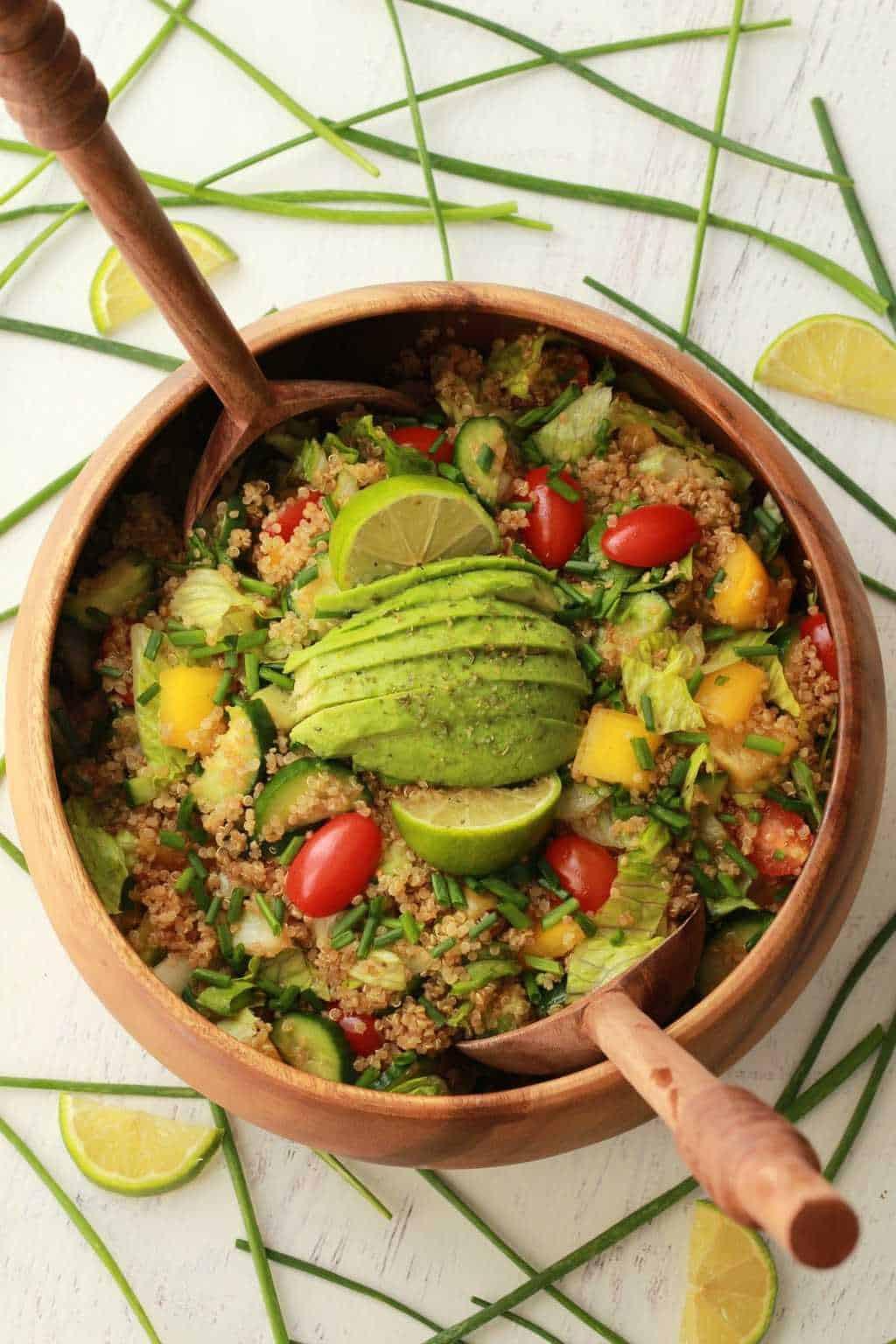 Quinoa Salad Dressing  Quinoa Salad with Sesame Soy Dressing Loving It Vegan