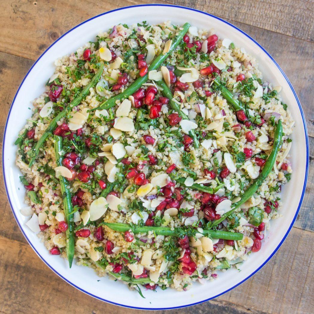 Quinoa Salad Dressing  Jewelled Quinoa Salad with Lemon Tahini Dressing