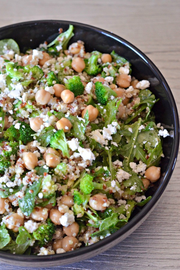 Quinoa Salad Feta  Broccoli Quinoa Salad with Feta and Spinach Mountain