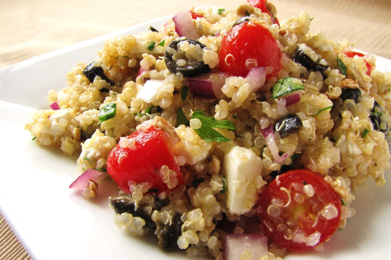 Quinoa Salad Feta  Summertime Lemon Feta Quinoa Salad Delicious as it Looks