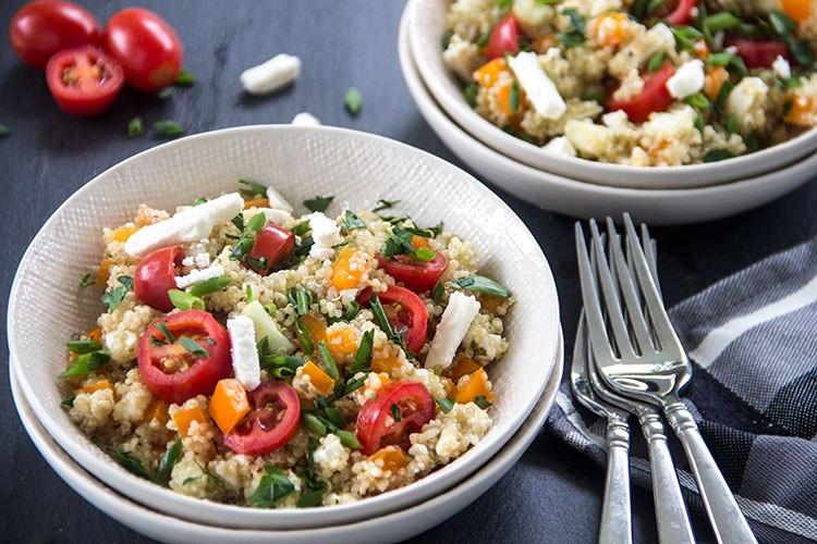 Quinoa Salad Feta  Greek Tomato Feta Quinoa Salad The Scrumptious Pumpkin