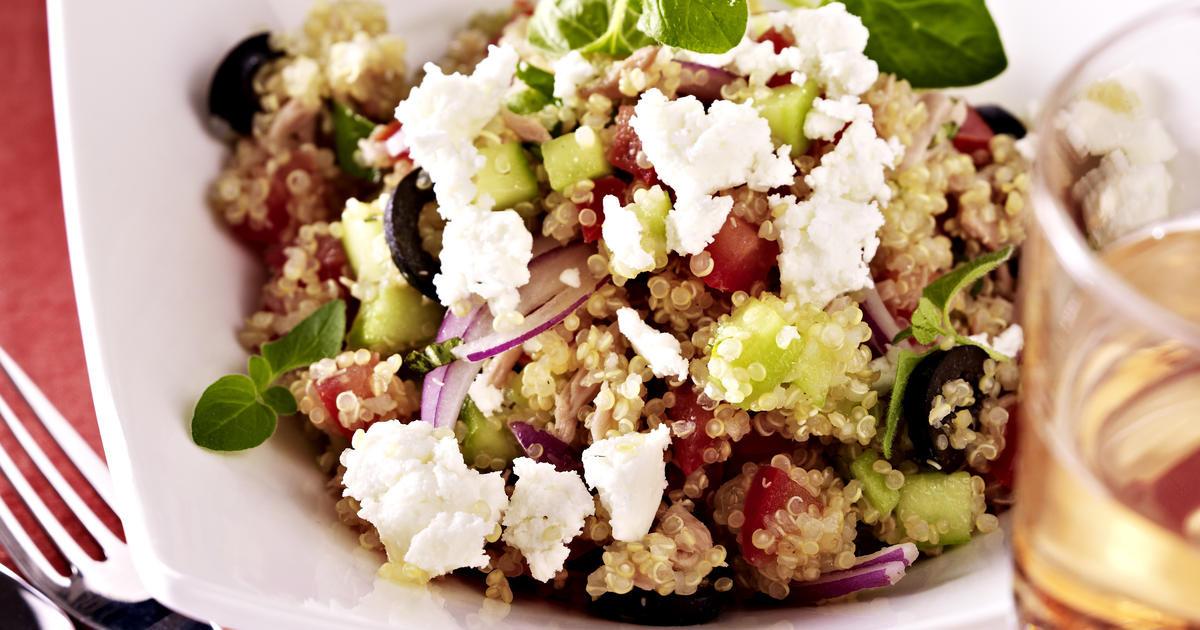 Quinoa Salad Feta  Quinoa Salad with Feta Tuna and Olives