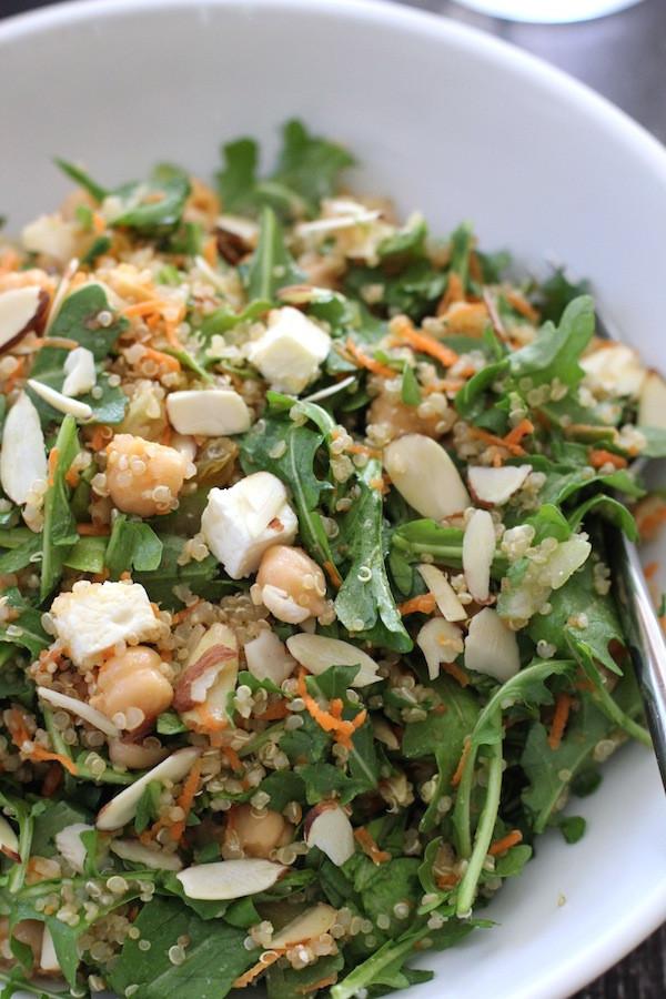 Quinoa Salad Feta  quinoa salad with chickpeas and feta