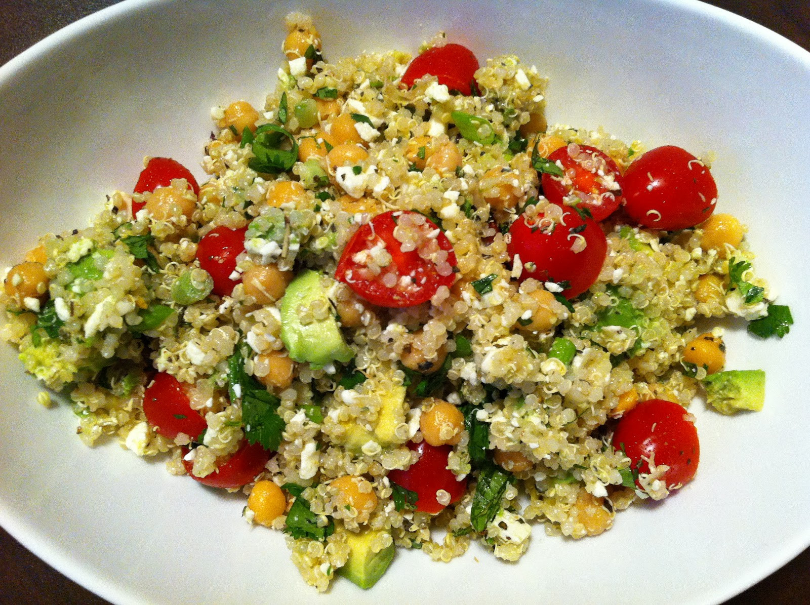 Quinoa Salad Feta  Playing With My Food Quinoa Salad with Chickpeas