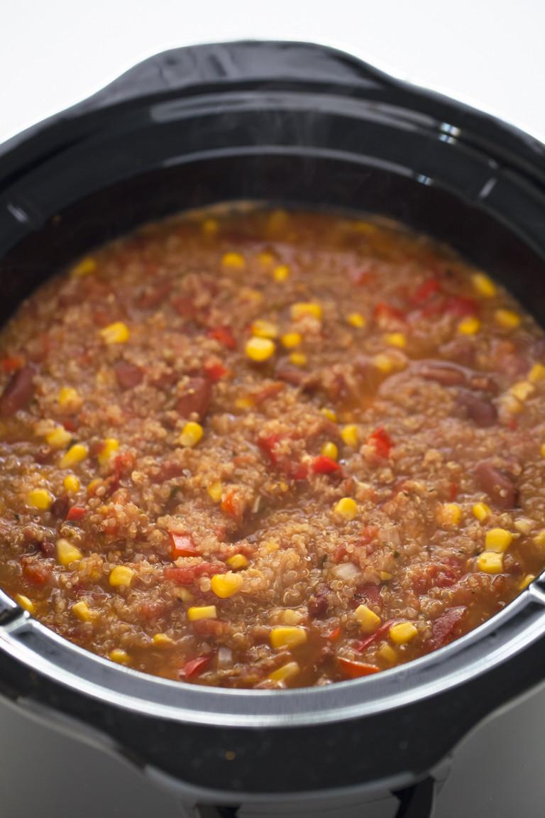 Quinoa Slow Cooker  Slow Cooker Vegan Quinoa Chili Simple Vegan Blog