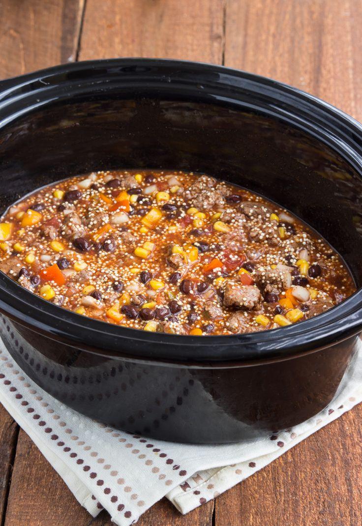 Quinoa Slow Cooker  Slow Cooker Cheesy Enchilada Quinoa Recipe