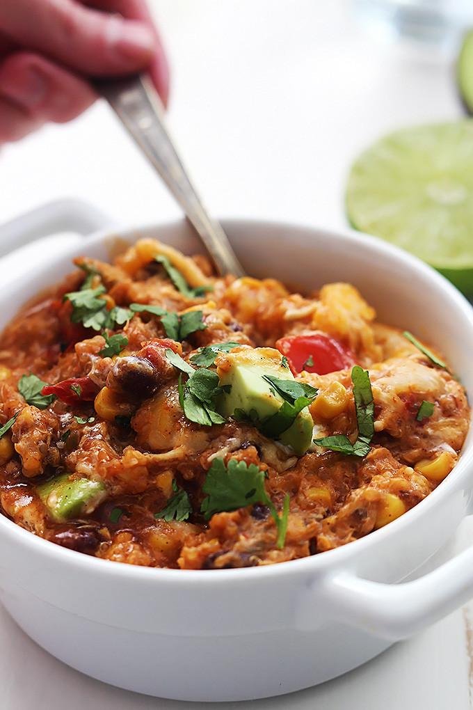 Quinoa Slow Cooker  Slow Cooker Chicken Enchilada Quinoa Slow Cookerster