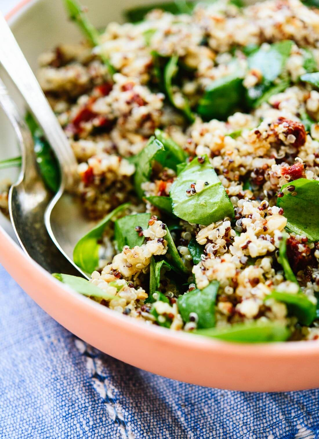 Quinoa Spinach Salad  Sun Dried Tomato Spinach and Quinoa Salad Cookie and Kate