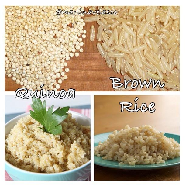Quinoa Vs Brown Rice  MOVE To Be Fit Quinoa vs Brown Rice 1⃣ Quinoa cooked 1