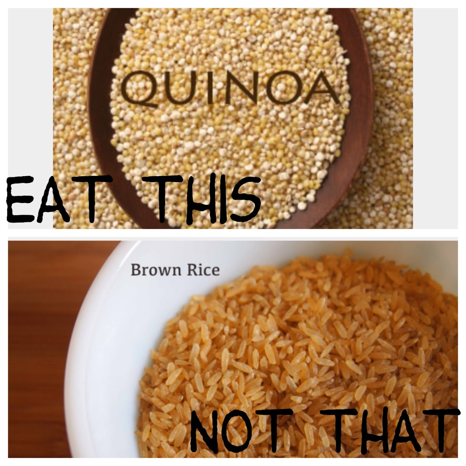 Quinoa Vs Brown Rice  Sparkling from the Inside Out Eat This Not That part 1