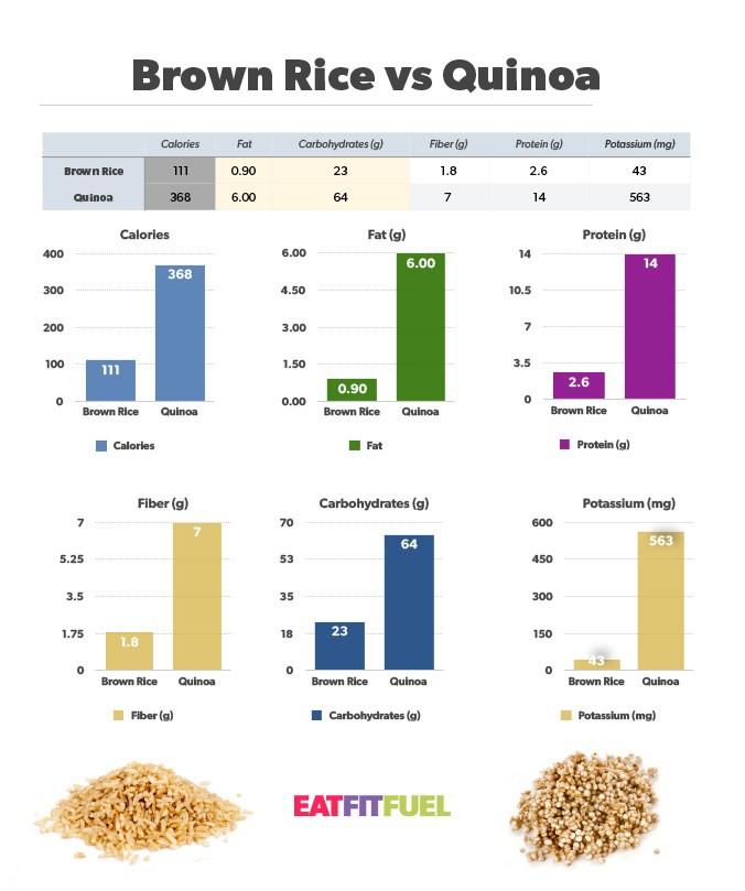 Quinoa Vs White Rice  Quinoa vs Brown Rice Eat Fit Fuel