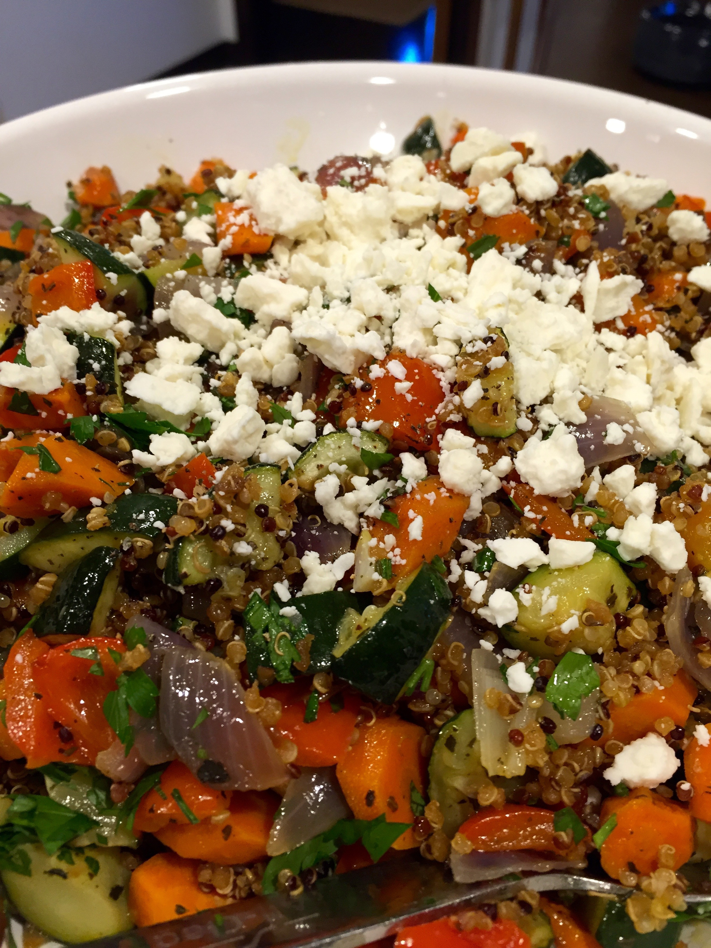 Quinoa With Vegetables  Quinoa with Roasted Ve ables and Feta Blythes Blog