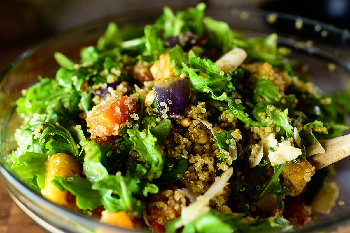 Quinoa With Vegetables  Quinoa with Buttery Roasted Ve ables