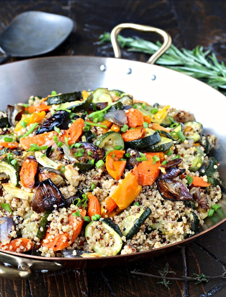 Quinoa With Vegetables  Quinoa with Roasted Ve ables