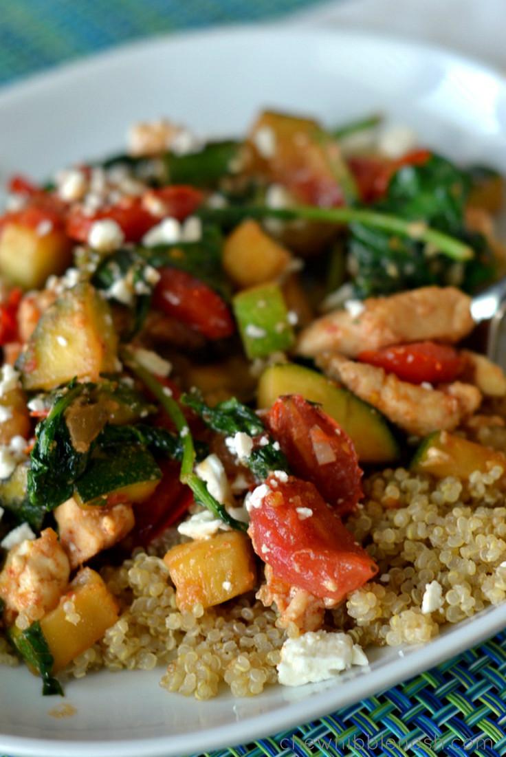 Quinoa With Vegetables  Chicken With Quinoa And Veggies Recipe — Dishmaps