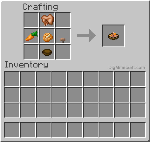 Rabbit Stew Minecraft  How to make Rabbit Stew in Minecraft