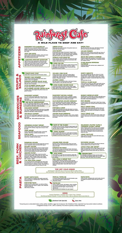 Rainforest Cafe Desserts Menu  Rainforest Cafe in Atlantic City Popfeeder