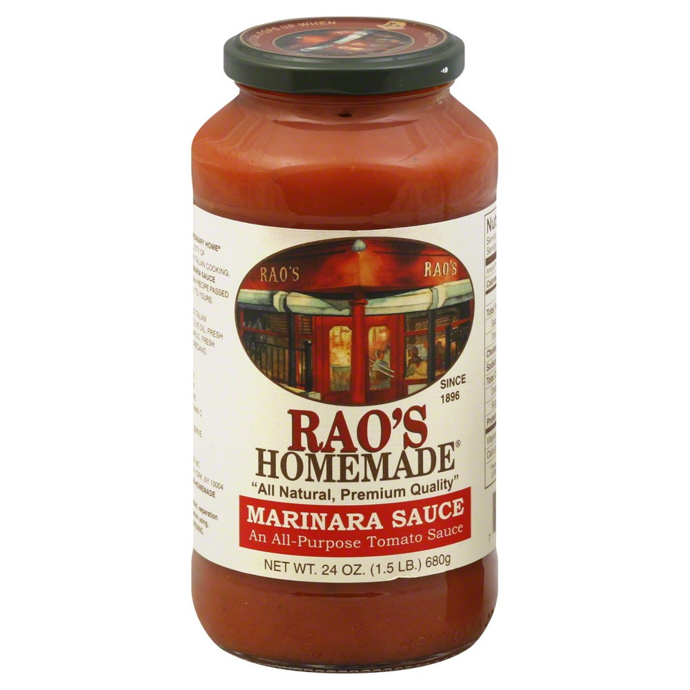 Raos Tomato Sauce  Rao s Homemade All Natural Marinara Sauce 24 Oz