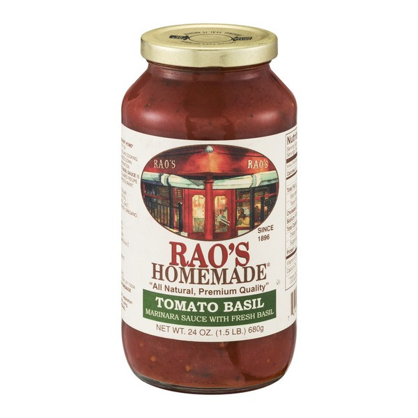 Raos Tomato Sauce  Rao s Homemade Tomato Basil Sauce from Whole Foods Market