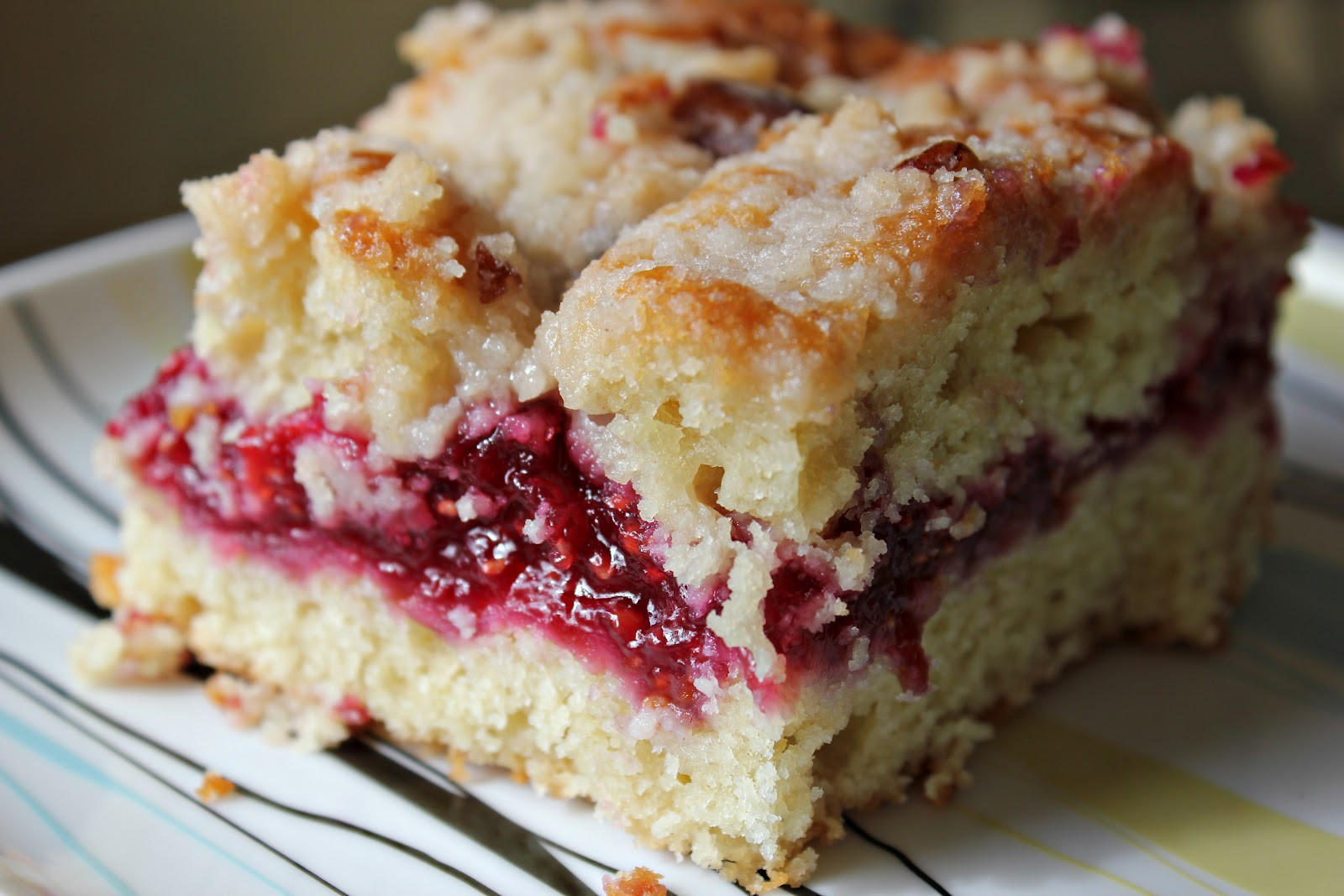 Raspberry Coffee Cake  LADDitude Raspberry Streusel Coffee Cake