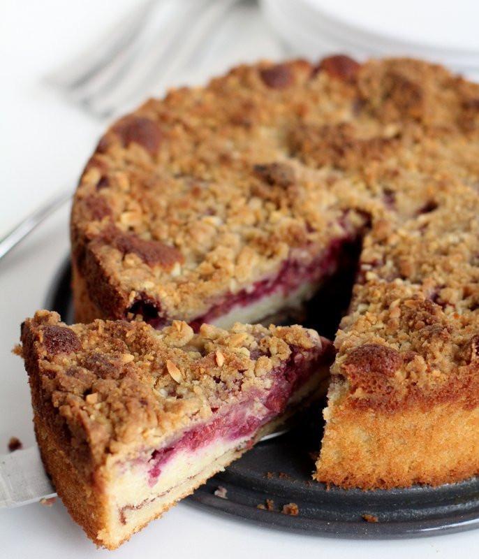 Raspberry Coffee Cake  Raspberry Almond Coffee Cake Inquiring Chef