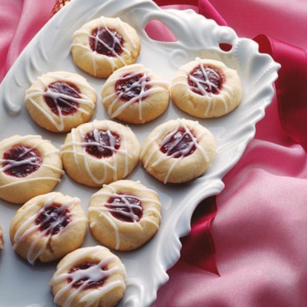 Raspberry Shortbread Cookies  Raspberry Almond Shortbread Thumbprints Recipe 2