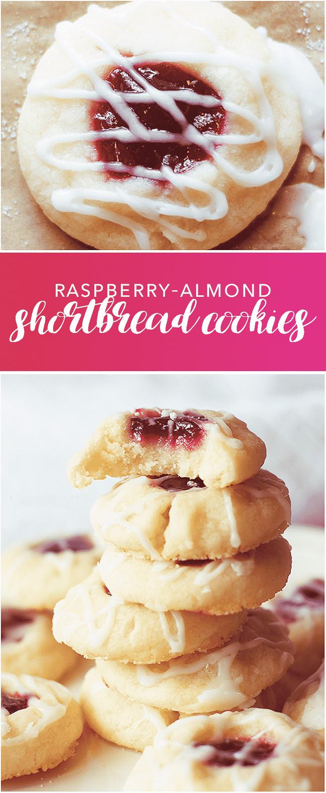 Raspberry Shortbread Cookies  Raspberry Almond Shortbread Cookies