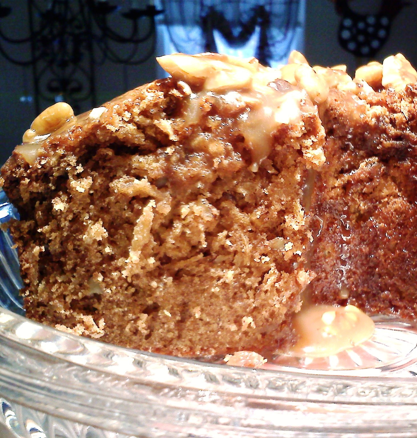 Raw Apple Cake  South Your Mouth Fresh Apple Cake with Butter Pecan Glaze