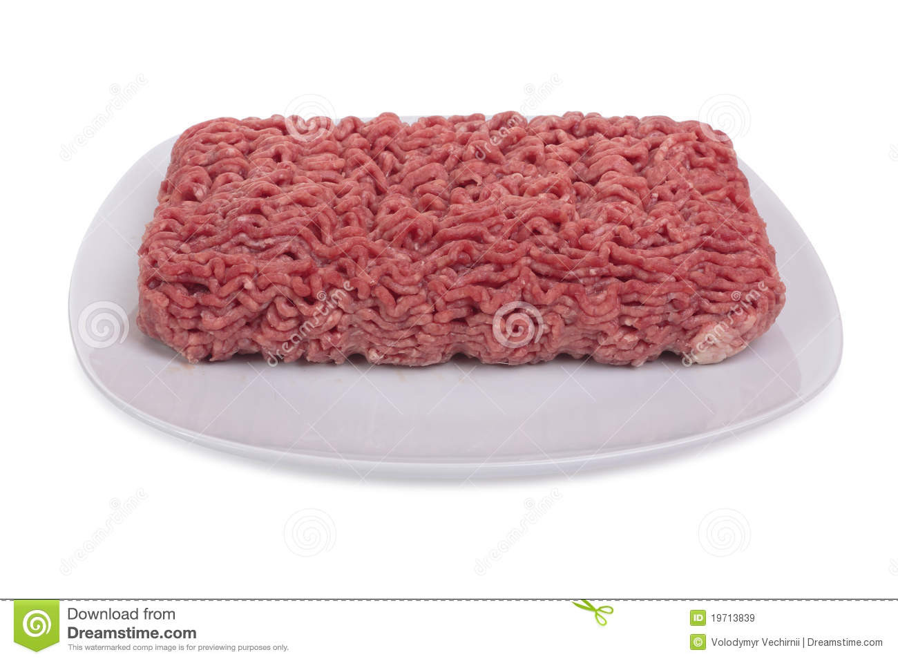 Raw Ground Beef  Raw Ground Beef Royalty Free Stock Image