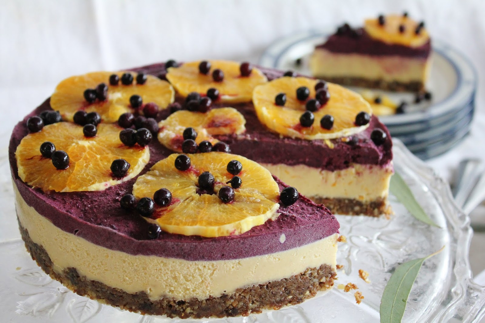 Raw Vegan Desserts  This Rawsome Vegan Life orange & blueberry cheesecake