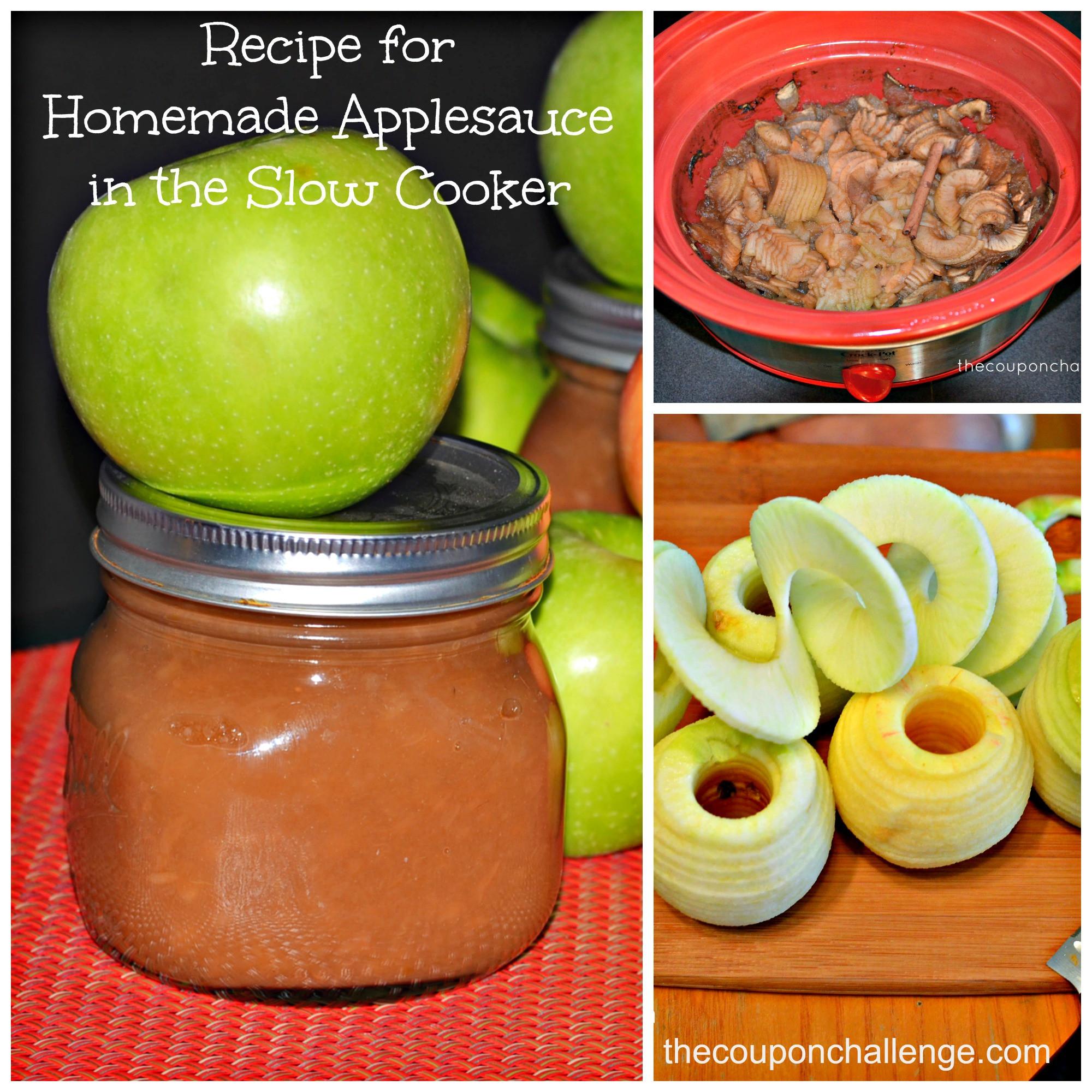Recipe For Applesauce  Recipe for Homemade Applesauce in the Slow Cooker
