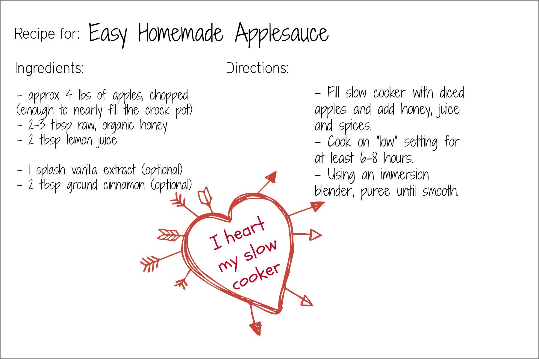 Recipe For Applesauce  Easy Homemade Applesauce