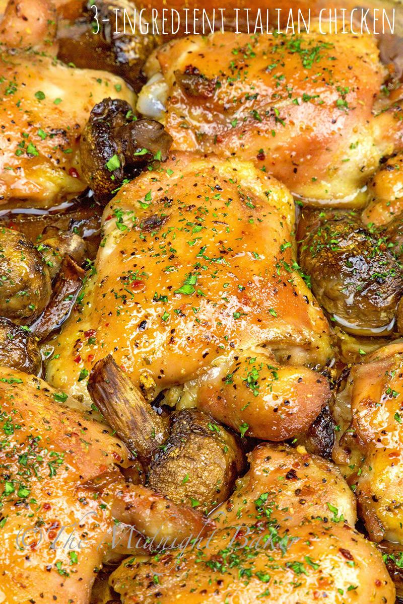 Recipe For Baked Chicken  baked chicken breast italian dressing