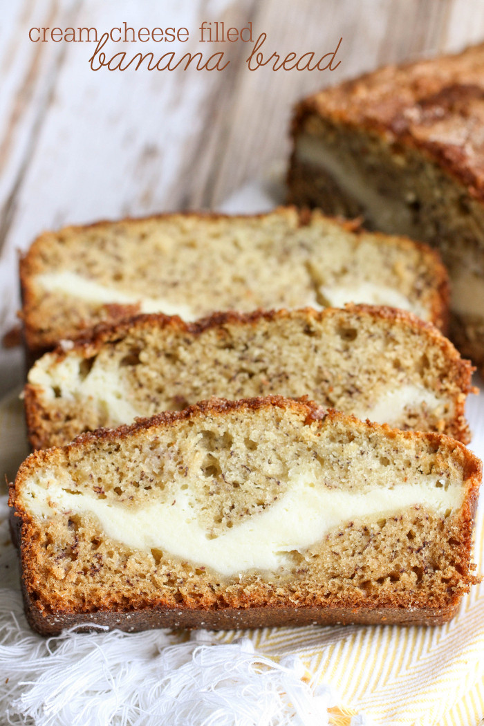 Recipe For Banana Bread  Cream Cheese Filled Banana Bread