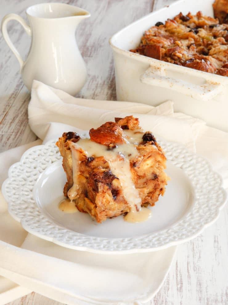 Recipe For Bread Pudding  Challah Bread Pudding with Kahlua Cream Sauce Recipe