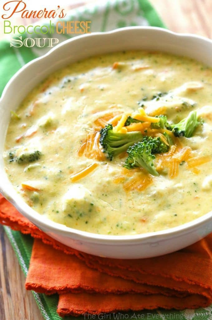Recipe For Broccoli Cheese Soup  Panera s Broccoli Cheddar Soup The Girl Who Ate Everything