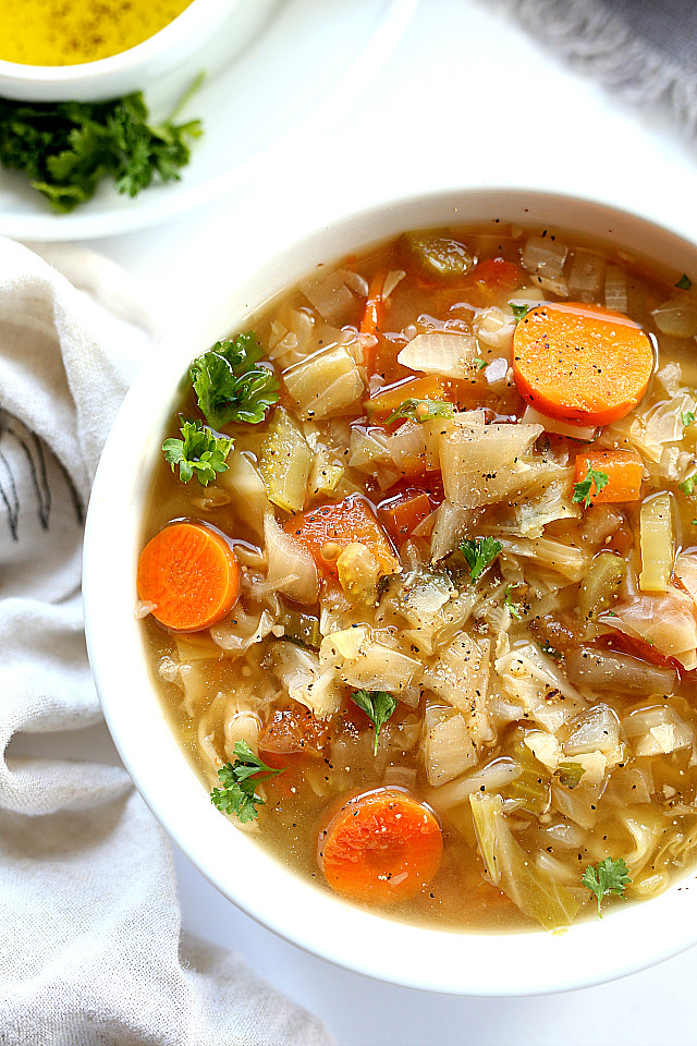 Recipe For Cabbage Soup  simple spicy cabbage soup